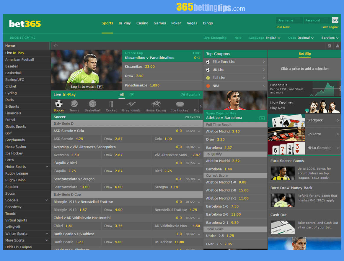 365 Betting Site